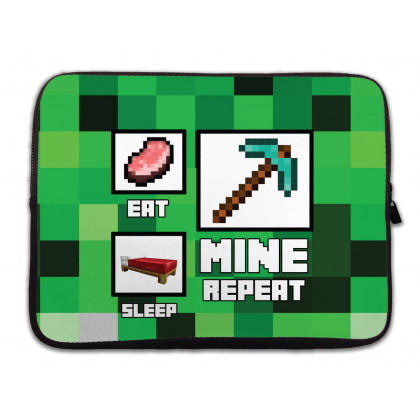 Minecraft: Eat - Sleep - Mine - Repeat laptop táska